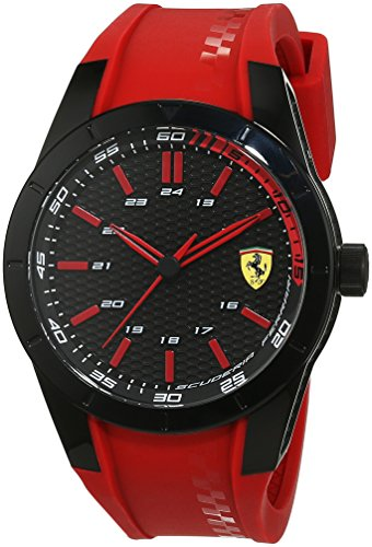 Ferrari 0830299 RedRev - Reloj analógico de pulsera para hombre (cuar
