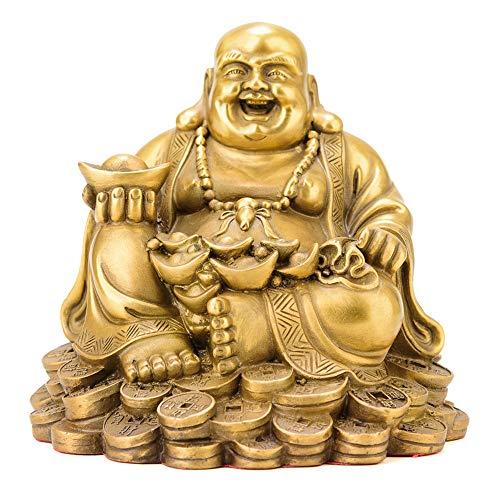 Maitreya-buddha-statue Aus Messing, Buddhistische Statue, Glückliche Dekoration, Großer Bauch, Smiley-maitreya-buddha, Studie Zur Desktopsammlung, Hauptdekoration, Figurendekoration (13 X 12 X 12 Cm) (Messing Buddha Statue Große)