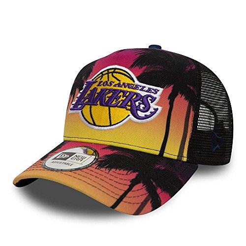 New Era LA Lakers Coastal Heat Trucker Cap - Multi