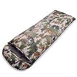 RTGFS Sac de Couchage Camping Camping Le Sac de Couchage pour Adulte Peut être Cousu Type d'enveloppe Sale Sac de Couchage Camouflage numérique