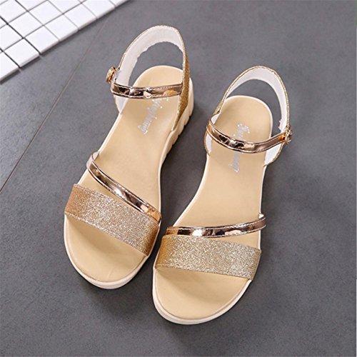 LHWY Damen Muffin Fish Head Women Sandalen Platform Simple Shoes Flat shoes Gold