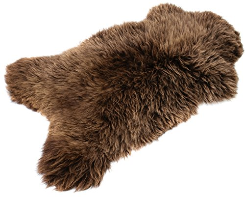 BRAUN SCHAFFELL Lammfell | NATURFELL SHEEPSKIN NEU (Braun 100-110 cm)