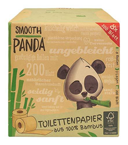 Smooth Panda - Toilettenpapier aus Bambus 8x200 Blatt 3-lagig