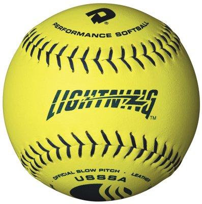 SSSA Herren Classis M Series Slowpitch Kunstleder Softball (12er Pack), 30,5 cm, optisch gelb ()
