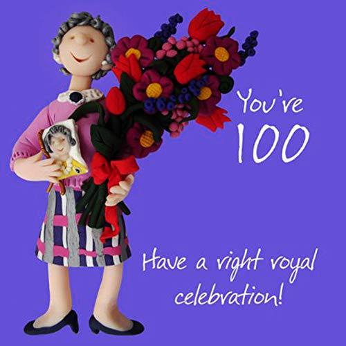 Fax Potato Geburtstagskarte zum 100. Geburtstag, englische Aufschrift