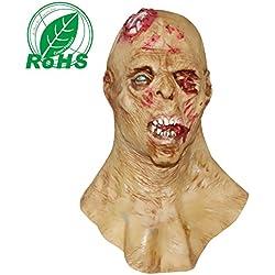 molezu Máscara de Horror Zombie, Máscara de Látex bioquímico Monstruo para Disfraz Fiesta Halloween