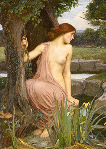"World of Art Kunstdruck/Poster, Motiv ""Echo"", von John William Waterhouse 1903, 250 g/m², glänzend, A3"