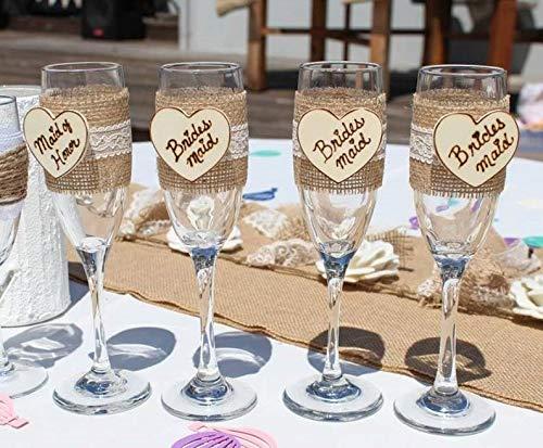 CELYCASY Brautjungfer-Geschenke, Brautjungfer-Geschenke, Bräutigamen-Geschenke, Champagnergläser, Toast-Flöten (Flöte Brautjungfer)