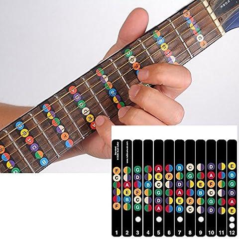 Guitare Touche Note décalcomanies (Coloré)