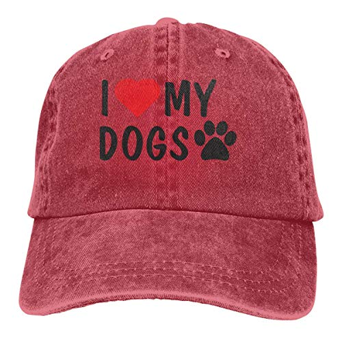 Red Skull Baseball (Baseball Caps für Herren/Damen,Golf-Kappen,I Love My Dogs Men's Women's Adjustable Jeans Baseball Hat Denim Jeanet Dad Hats Sports Cool Youth Golf Ball Unisex Cowboy hat fedora beach hiking skull 3D)