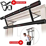Sportstech Einzigartiges Kombi-Paket! 4in1 Klimmzugstange inkl Dip Bar & Power Ropes