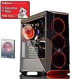 ADMI Intel GAMING PC - Intel Core I5 7400 3.5Ghz Quad Core CPU, GTX 1050 Ti 4GB Graphics Card, 8GB 2400MHz DDR4 RAM, 1TB Hard Drive, Coolermaster Masterbox 5.1 Red Gaming PC Case