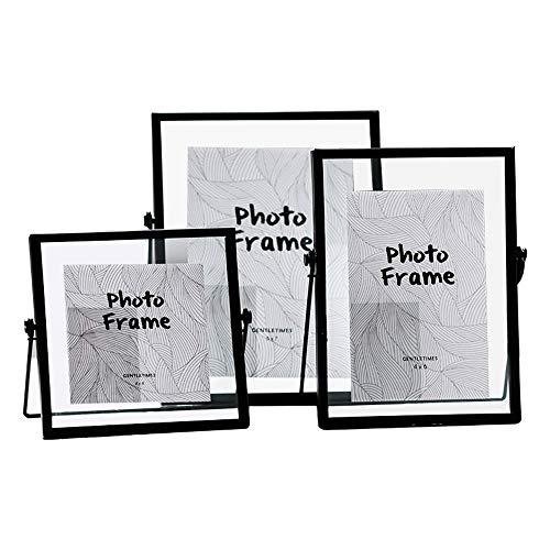 ZSLLO Nordic Minimalist Black Metal Frame Glas geometrische Bilderrahmen Set INS Pflanze Probe Foto Frame Graduation Foto, Geschenk, 4,6,7in (Size : 7in)