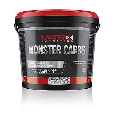 Matrix Nutrition Monster Carbs Weight Gainer 8KG - Mass Gain Protein Powder Shake by Matrix Nutrition