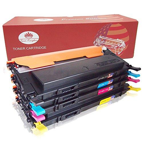 Toner Kingdom 4 Paquet Compatible Cartouche d'encre Pour Samsung CLT-K4072S CLP-320 CLP-320N CLP-320W CLP-320N CLP-325 CLP-325N CLP-325W CLX-3180 CLX-3180FN CLX-3180FW CLX-3185 CLX-3185F CLX-3185FN CLP-3185FW CLX-3185N CLX-3185W Imprimante (1 Noir,1 Cyan,1 Magenta,1 Jaune)