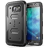 Coque Galaxy S6, [ Armorbox ] i- Blason construit en [ Protecteur d'écran ] [ Full body ] [Heavy Duty protection ] Shock Reduction [ COIN PARE-CHOC ] pour Samsung Galaxy S6 (Noir)