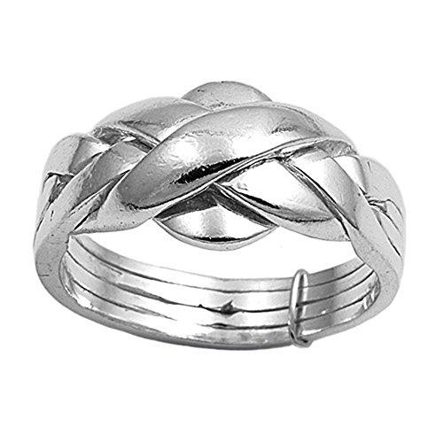 kleine Schätze Damen Ring Sterling Silber Puzzle Ring