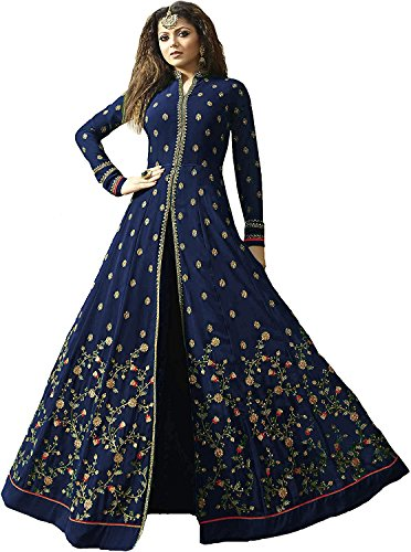 Crazy Multi Color Latest Designer Party Wear,Ramzan Eid Anarkali Salwar Suit/Long Gown...