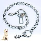Formwindog Metallkette Hund Sicherheitsgurt Sicherheitsgurt für Hunde Katze Auto Sicherheitsgurt Sicherheitsleine Geschirr Geschirr Universal für Katzen Hund Sicherheitsgurt Auto 75 cm