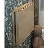YDHZ Bürotisch, Doppelwand-Wandtisch Klapptisch gegen die Wand Massivholz Wandtisch Computertisch Esstisch Wand Tisch Optionale Größe,80 * 50