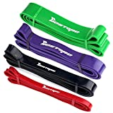 Resistance Bands Set of 4 BESTOPE Fitness Powerband Training Tapes Bands Exercise Bands for Strength Weight Training Travel Home Yoga