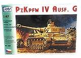 Modellbau Kunststoff Modellbausatz Militaer SDV 1:87 H0 Deutscher Panzer PzKpfw IV Ausführung G Kampfpanzer