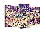 Impression sur toile - 3 Parties - 130x100cm - Image sur toile - 3598 - plusieurs éléments - prete a suspendre - encadrée - Tableaux pour la mur - motif moderne - pret a accrocher - CB130x100-3598
