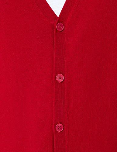 MERAKI Merino Strickjacke Herren mit V-Ausschnitt Rot (Red)
