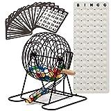 GSE Games & Sports Expert Deluxe Bingo-Spiel Set mit Masterboard, Bingokugeln und Bingo-Karten (messingfarben/schwarz), schwarz