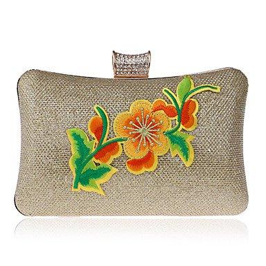pwne L. In West Frauen'S Mode All-Match Hand Besticktes Kleid Bankettabendessen Tasche Damentasche Gold