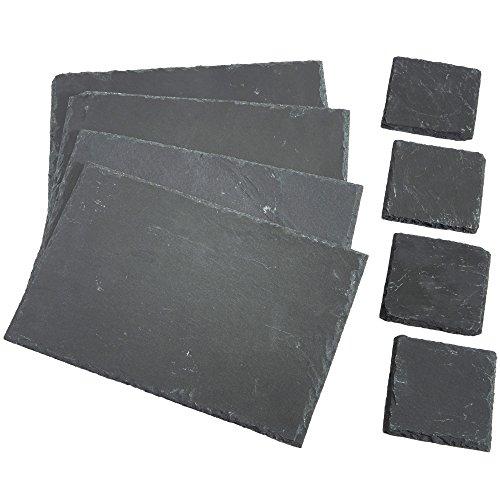 vonshef-8-piece-set-4x-placemats-4x-coasters-natural-slate