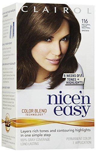 Clairol Coloration de longue durée Nice 'n Easy - Couleur 116 - Châtain clair neutre naturel
