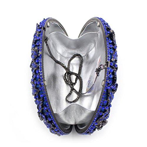 Borse Da Sera Delle Donne Di Cristallo Di Alta Qualità Diamante Borse Blue