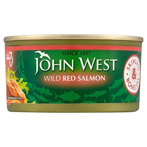 John West Rouge saumon sans peau et désossé (170g) - Paquet de 6