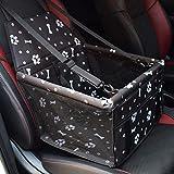 YAOJU Hunde Autositz für Hunde, Hundebox Auto Sitzerhöhung für Hunde,Wasserdicht Faltbar Atmungsaktiv Haustier Sicherheit für Reise,Kleine Hunde oder Katzen (Fußabdruck)