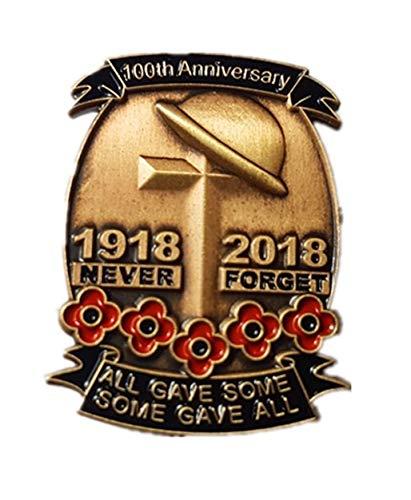 Berks Wedding Limited Edition Gold 1918-2018 100. Jahrestag Erster Weltkrieg Soldat Veterans Red Mohnblume Emaille Anstecknadel Anstecknadel Anstecker -