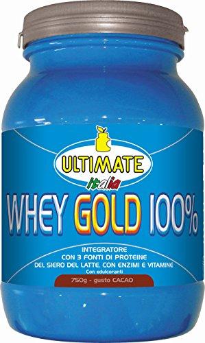 Ultimate Italia WGC750 Whey Gold 100 % Proteine del Siero del Latte - 750 gr