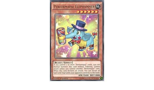 PERFORMAPAL ELEPHAMMER CROS-EN002 YU-GI-OH CARD RARE