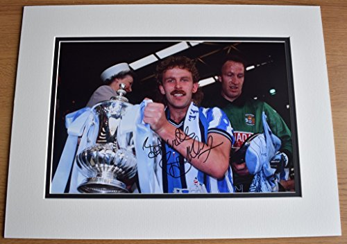 Sportagraphs Brian Kilcline SIGNED autograph 16x12 photo display Coventry City Football COA PERFECT GIFT