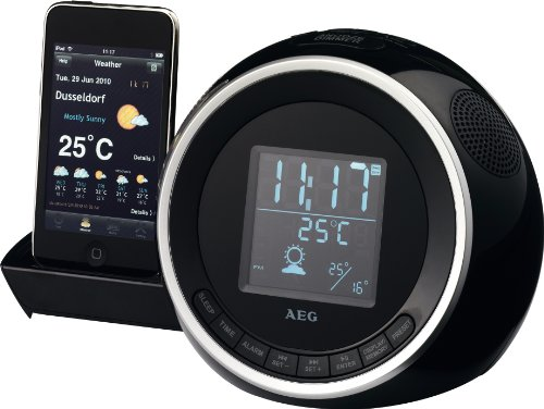 AEG SRC4438 Uhrenradio (LC-Display, iPod/iPhone-Dock)