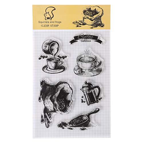Wanfor DIY Clear Stamp,Slicone Seal, DIY Silikon Klar Stempel Blatt, Transparent Stempel...