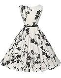 50s vintage retro festliches kleid sommerkleid kurz rockabilly kleid petticoat kleid Größe XL CL6086-11