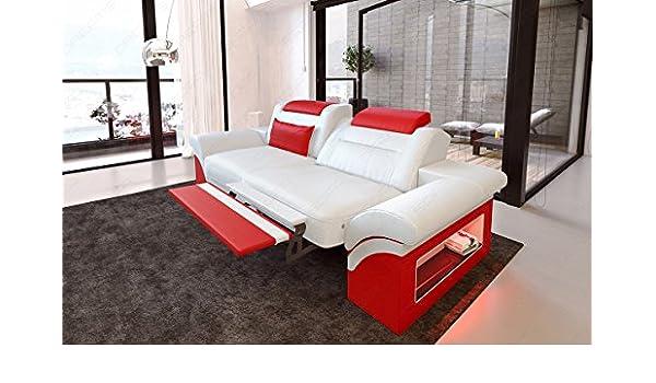Divano Pelle Di Bufalo Rosso.Sofa Dreams Pelle 2 Posti Monza Bianco Rosso Amazon It Casa E Cucina