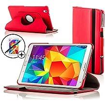 Forefront Cases® Samsung Galaxy Tab S 8.4 SM-T700 Funda Carcasa Stand Smart Case Cover Protectora Giratorio de Cuero – Función automática inteligente de Suspensión/Encendido + Lápiz óptico y protector de pantalla