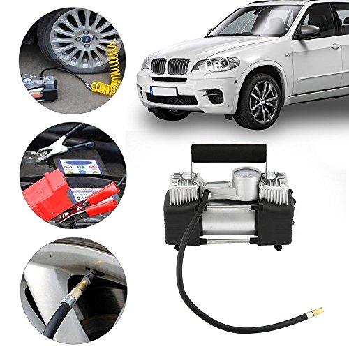 Dailyinshop 12V Auto Tragbare Elektrische Luftkompressor Reifen Inflator Pumpe Heavy Duty