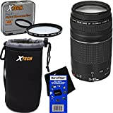 HeroFiber EF 75-300mm f/4-5.6 III Telephoto Zoom Lens for Canon EOS series of Digital SLR Cameras with 10pc Bundle Deluxe