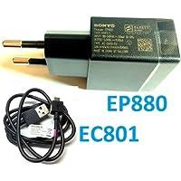Original Cargador Sony Ericsson Micro USB EP880 EP 880 + Cable EC801 para Sony Xperia Z, S, U, ZL, P, E, E DUAL, J, V, T, Miro, Go