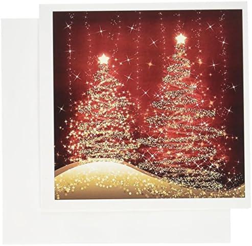 3Drosa elegant Christmas Sparkling Trees Trees Trees rosso biglietti di auguri, set di 12 (GC 35705 _ 2) | Premio pazzesco, Birmingham  | Prezzo di liquidazione  | Adatto per il colore  1d86c0