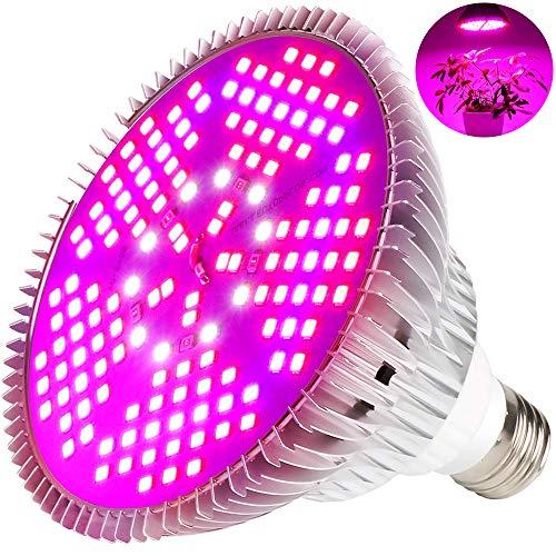 MILYN 100W LED Pflanzenlampe Vollspektrum Pflanzenlicht E27 150 Leds Pflanzenleuchte LED Grow Light, Achstumslampe ähnlich dem Sonnenlichts für Garten Gewächshaus Zimmerpflanzen Sämling Gemüse, Blumen (Watt Led-licht-lampe 100)