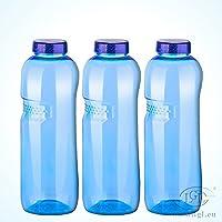 3 x 1 Liter Trinkflasche aus Tritan / Wasserflasche / BPA-frei